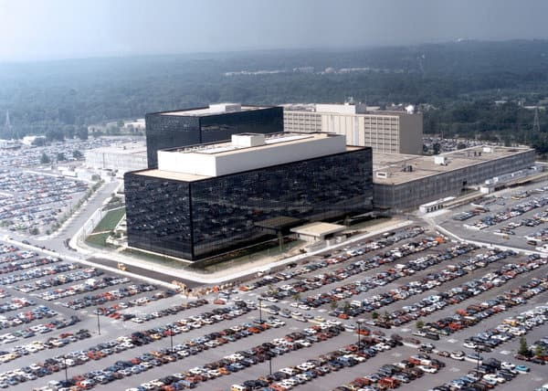 This undated photo provided by the National Security Agency shows its headquarters in Ft. Meade, Md. (Handout / Getty Images / May 11, 2006)