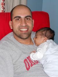 Steven Salaita and his son, Ignatius, the fiery one.