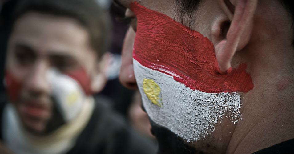 Egyptians with their faces painted participating in the revolutionary protests that took down Hosni Mubarak in 2011. (Photo: Ahmad Hammoud/flickr/cc)