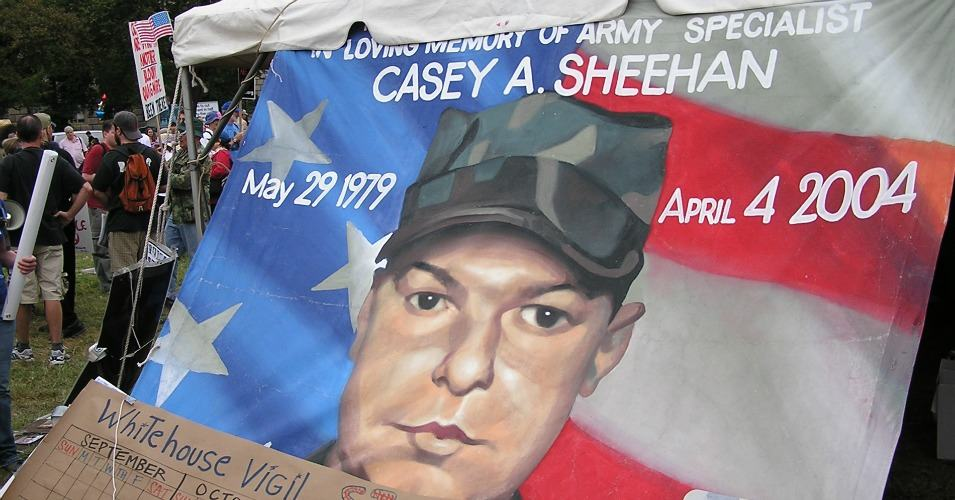September 24, 2005 Painting of Casey Sheehan at Camp Casey in Washington D.C. (Photo: Richard Block/flickr/cc)