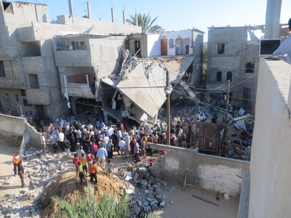 A home in Gaza bombed by Israel. (Photo: Muhammad Sabah and B'Tselem flickr.cc)