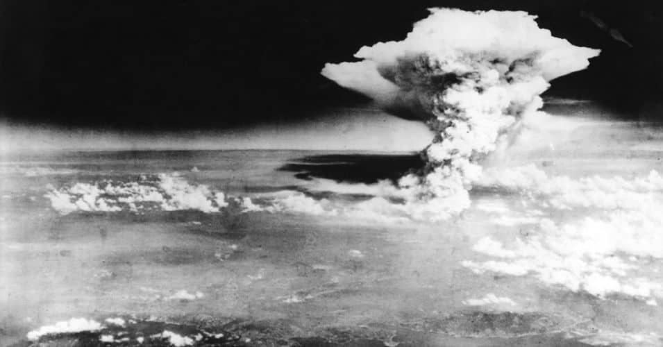 The atomic bombing of Hiroshima, Japan, on August 6, 1945.  (Photo: Hiroshima Peace Memorial Museum, Hiroshima)