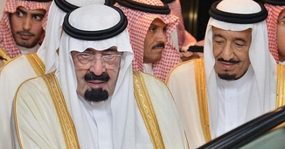 Late King Abdullah and King Salman, then the Crown Prince. (Photo: Tribes of the World/ Flickr)