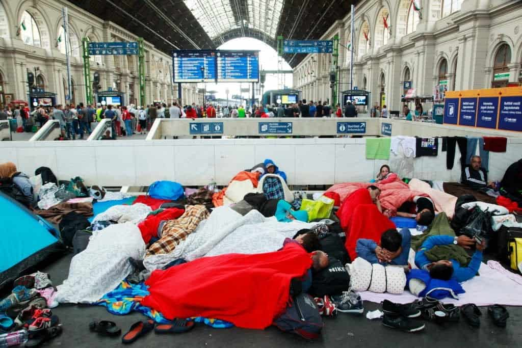 Syrian refugees at Budapest Keleti railway station, 4 September 2015. (Photo Rebecca Harms @ flickr.cc)