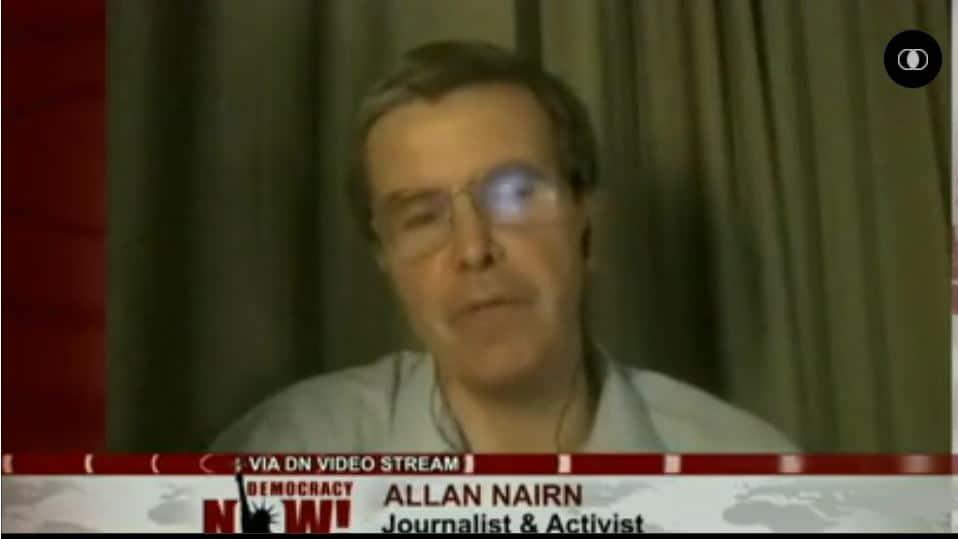 (Video still from DemocracyNow.org)