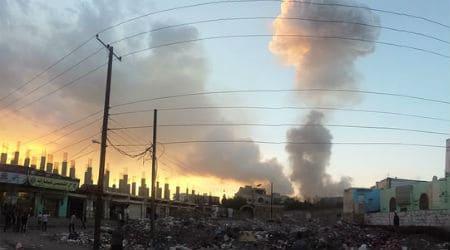 Saudi airstrike in Sana'a, Yemen. Photo: Ibrahem Qasim - Flickr - CC BY-SA 2.0